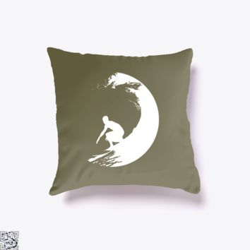 Catch A Wave, Surfing Throw Pillow Cover