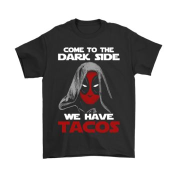 AUGUAU Star Wars Deadpool Come To The Dark Side Shirts