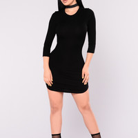 Callie Bodycon Dress - Black