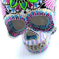 Painted Skull Small hand painted skull Sugar skull skull art