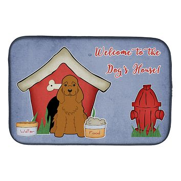 Dog House Collection Cocker Spaniel Red Dish Drying Mat BB2849DDM