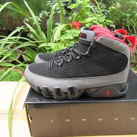 Air Jordan 9 Retro AJ9 Dark Gray/Red Sneaker
