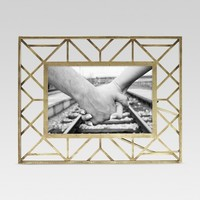 Geometric Gold Single Image Frame 4x6 - Threshold™