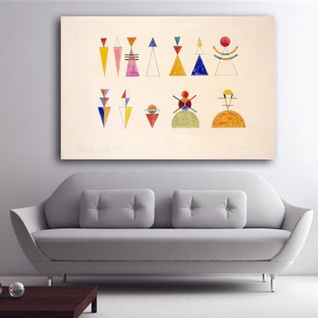 wassily kandinsky sketch for picture xvi the great gate of kiev print Wall oil Painting picture print on canvas free shipping