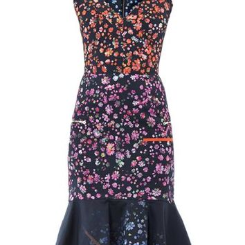 Morgan forget-me-not print dress