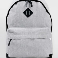Grey Melange Nylon Backpack