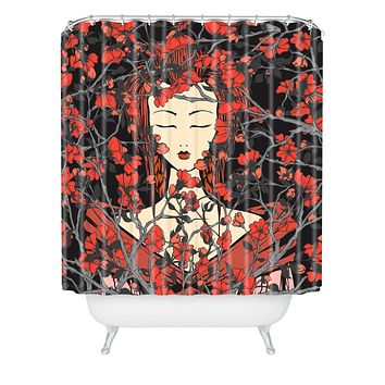 Belle13 Sleeping Beauty Shower Curtain