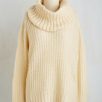 Mid-length Long Sleeve Snuggle Sampling Sweater