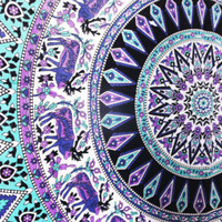 Hippie Elephant Tapestries Wall Tapestry Mandala Bohemian Tapestry Beach Throw