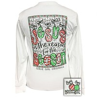 Girlie Girl Preppy Jesus Is The Reason For The Season Holiday Long Sleeve T-Shirt