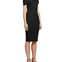 Givenchy - Chain-Detail Jersey Wrap Dress - Saks Fifth Avenue Mobile