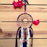 "Navy & Pink Floral 5"" Dreamcatcher"