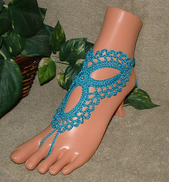 Crochet Barefoot Sandals Anklet Foot From Gilmore S