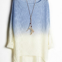 Ombre High-low Sweater, one size