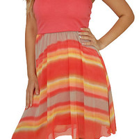 High Value (Coral/Multi)-Great Glam is the web's best online shop for trendy club styles, fashionable party dresses and dress wear, super hot clubbing clothing, stylish going out shirts, partying clothes, super cute and sexy club fashions, halter and tube