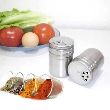 ICIK272 Multifunction Stainless Steel Salt Spice Dispenser Seasoning Extracts Toothpick Box Holder kitchen cooking tools