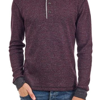 Kyle Striped Thermal Henley