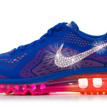 Nike Air Max + Swarovski Crystals - Blue/Orange/Pink