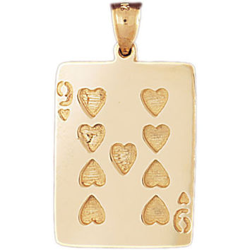 14K GOLD GAMBLING CHARM - PLAYING CARD #5468