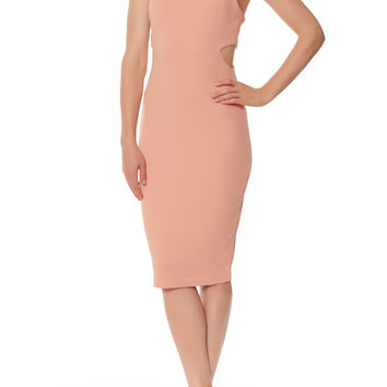 Peek-A-Book Sheath Dress