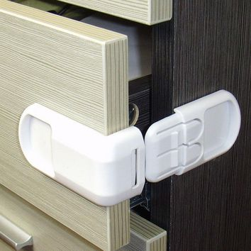 5pcs Plastic Baby Safety Protection From Children In Cabinets Boxes Lock Drawer Door Terminator Security Product Drop