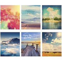 Wanderlust Print Set - 6 Framable Prints