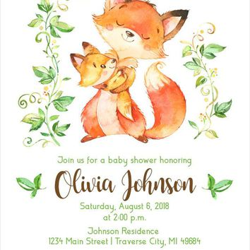 Best Fox Baby Shower Products On Wanelo