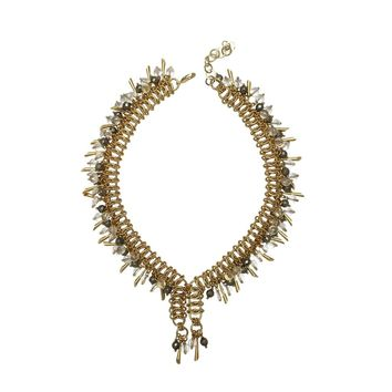 Gold Plated Chain Drop Necklace