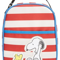 Boy's Hanna Andersson 'Peanuts - Snoopy & Woodstock' Insulated Lunchbox - Red