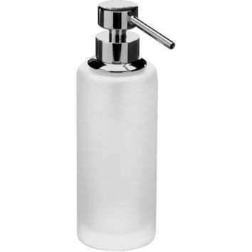 Addition Frosted Glass Table Pump Liquid Soap Lotion Dispenser for Bath, Kitchen