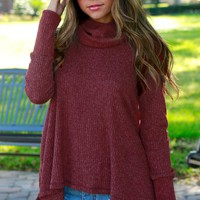 Sweet Talks Turtleneck Sweater Burgundy