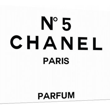 Chanel NO. 5 perfume label Canvas - Typography - Perfume Bottle - Wall Art - Print Poster - Modern Decor - Motivation - Chanel logo - chanel