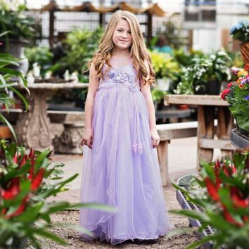 Azalea Lavender Purple Gown Dress - Toddler & Girls