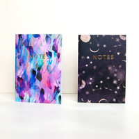 Set of 2 A6 Notebooks with Gold Foiling by Nikki Strange