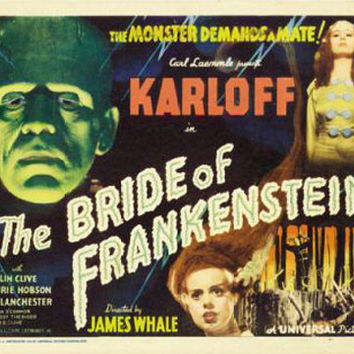 The Bride Of Frankenstein Vintage Movie Poster