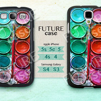 Samsung Galaxy S4 Case Watercolor Galaxy S3 S4 Case Watercolor Set Paint Box Samsung Case Skin Cover Hard or Soft Case-WP01
