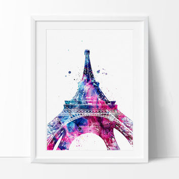 Eiffel Tower Paris Watercolor Print, French country, Art, France Art Print, Paris Watercolor, Paris Art Poster, Eiffel Tower Decor - 101