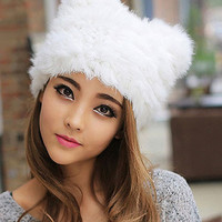 Plush Faux Fur Hat - 4 Colors