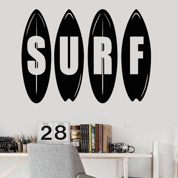Vinyl Wall Decal Surf Surfing Extreme Sports Teen Room Stickers Unique Gift (ig3501)