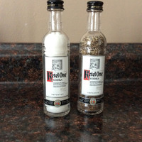 Upcycled Ketel One Vodka Salt and Pepper Shakers