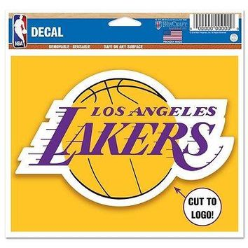 LOS ANGELES LAKERS MACBOOK LAPTOP MULTI USE REUSABLE DECAL NEW WINCRAFT