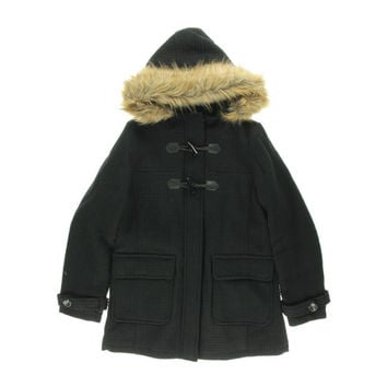 Madden Girl Womens Woven Hooded Duffle Coat