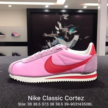 Nike Classic Cortez Suede Pink Women's Sport Running Shoes