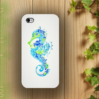 iphone case, i phone 4 4s 5 case, iphone4 iphone4s iphone5 case,stylish plastic rubber silicone cases cover elephant  blue sea horse