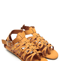 Wild Diva Whiskey Strappy Ethnic Sandals