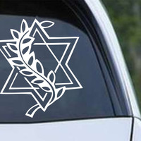 Star of David Christian Die Cut Vinyl Decal Sticker