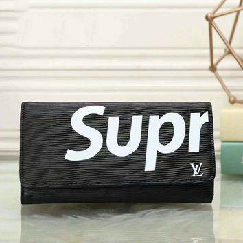 LV/Supreme Women Man Leather Purse Wallet H-LLBPFSH