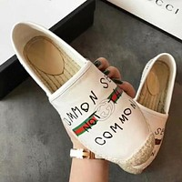 GUCCI Women Fashion Espadrilles Flats Shoes