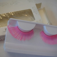 Neon Pink Super Long False Eyelashes
