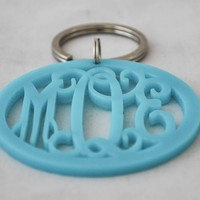 Acrylic Monogram Key Chain - Peggy's Gifts